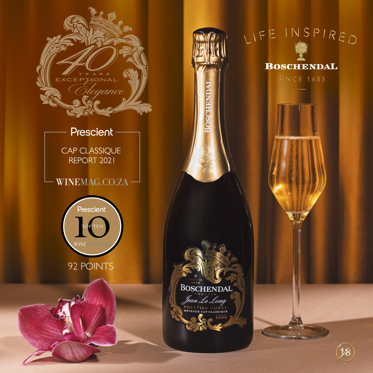 Boschendal Celebrates 40 Years of Pioneering Cap Classique Excellence with Winemag Top 10 photo