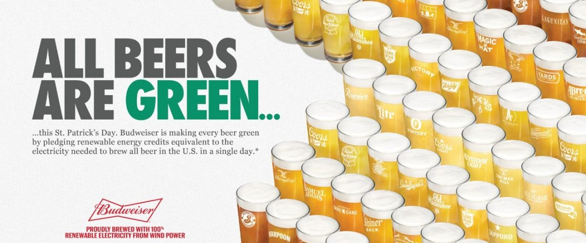 Budweiser Turns Beer 'green' On St Patrick's Day With Renewable Energy photo