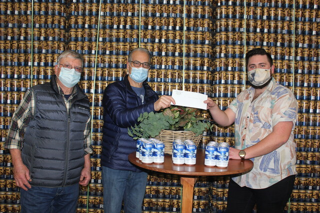 Cannery Brewing Made Their Annual Donation To The Ss Sicamous Restoration Society photo