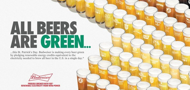 Budweiser Encourages Rivals To Join 'green' St. Patrick's Day Push For Sustainability photo