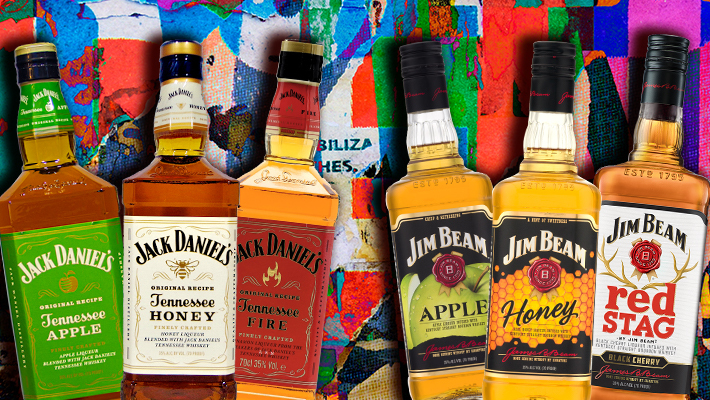 Flavored Whiskey Blind Taste Test — Jim Beam Vs. Jack Daniels photo