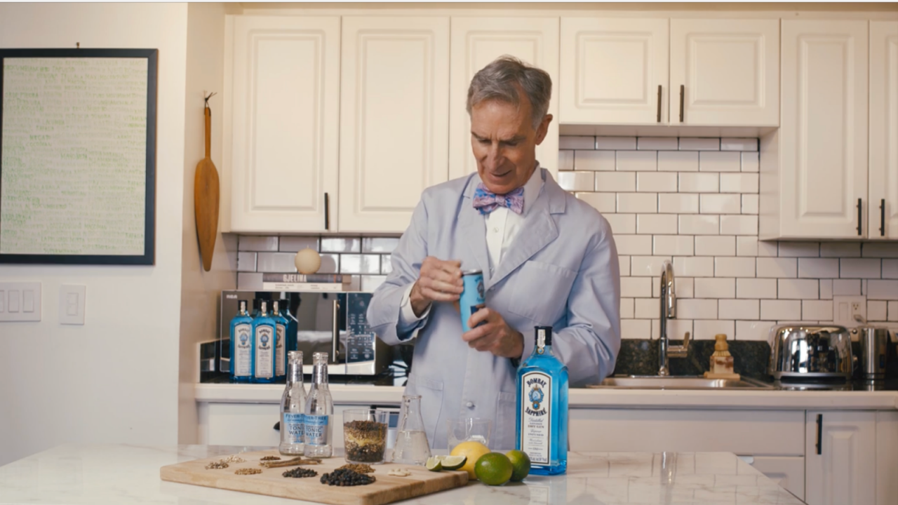 Bill Nye & Bombay Sapphire Explain The Science Of Why Gin & Tonic Tastes So Damn Good photo