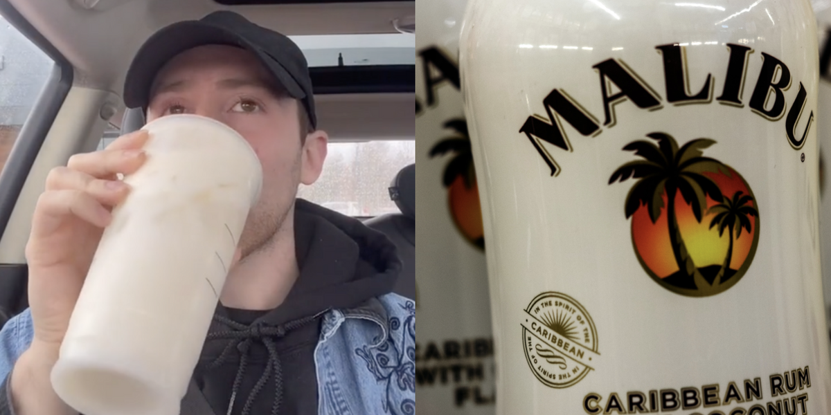 This Viral Starbucks Hack From Tiktok Makes A Drink That Tastes *just* Like Malibu Rum photo