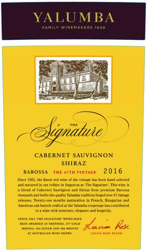 Yalumba 2016 The Signature Cabernet Sauvignon-shiraz (barossa) photo