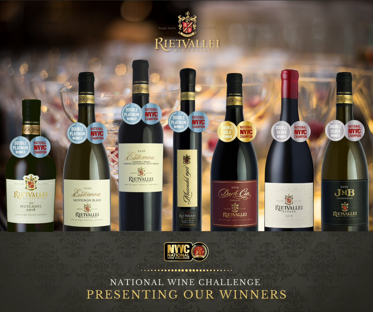 National Wine Challenge Award Results for Rietvallei Wine Estate photo