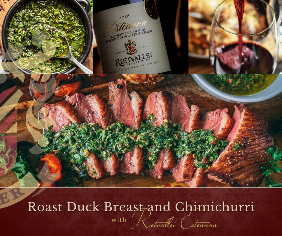 Roasted Duck Breast Paired With One Of Rietvallei's Finest Red Wines photo