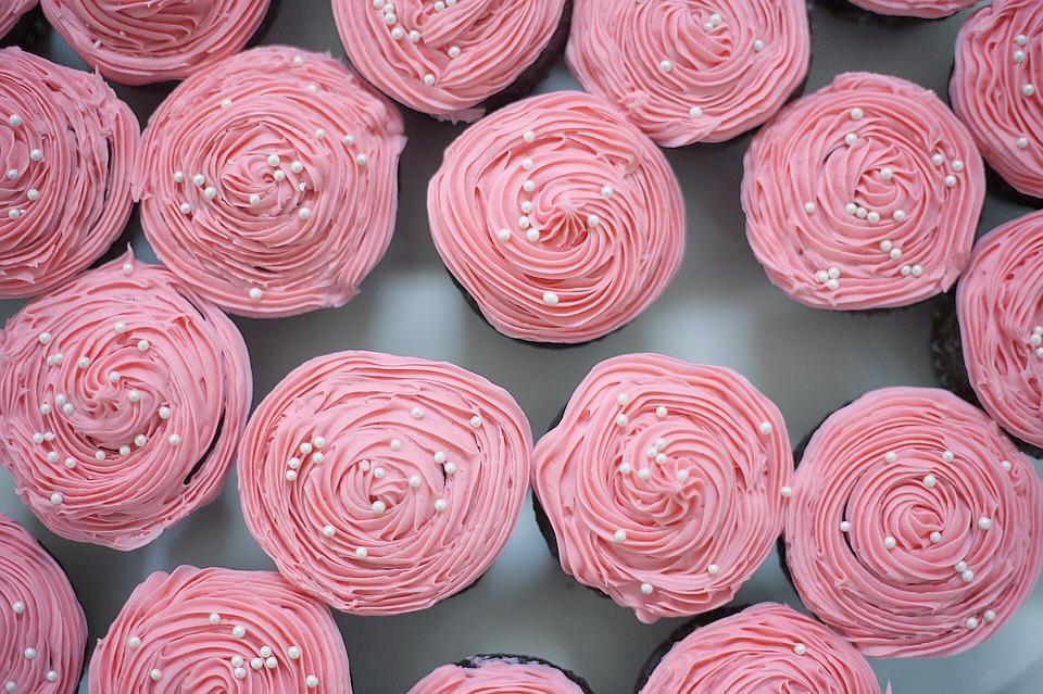 Rosé Wine Cupcakes For A Pot Party photo