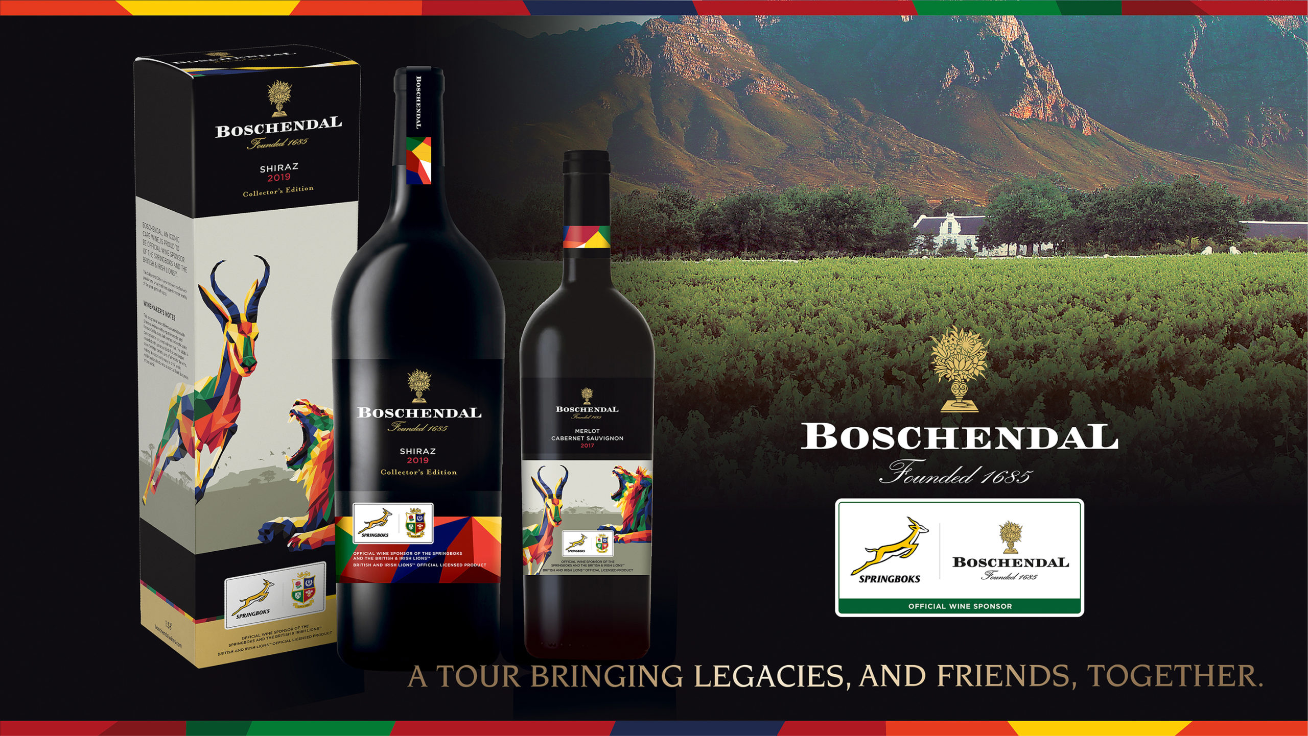Enduring Spirit of Rugby Ensures Success of Lions Tour and Boschendal's Wine Sponsor photo