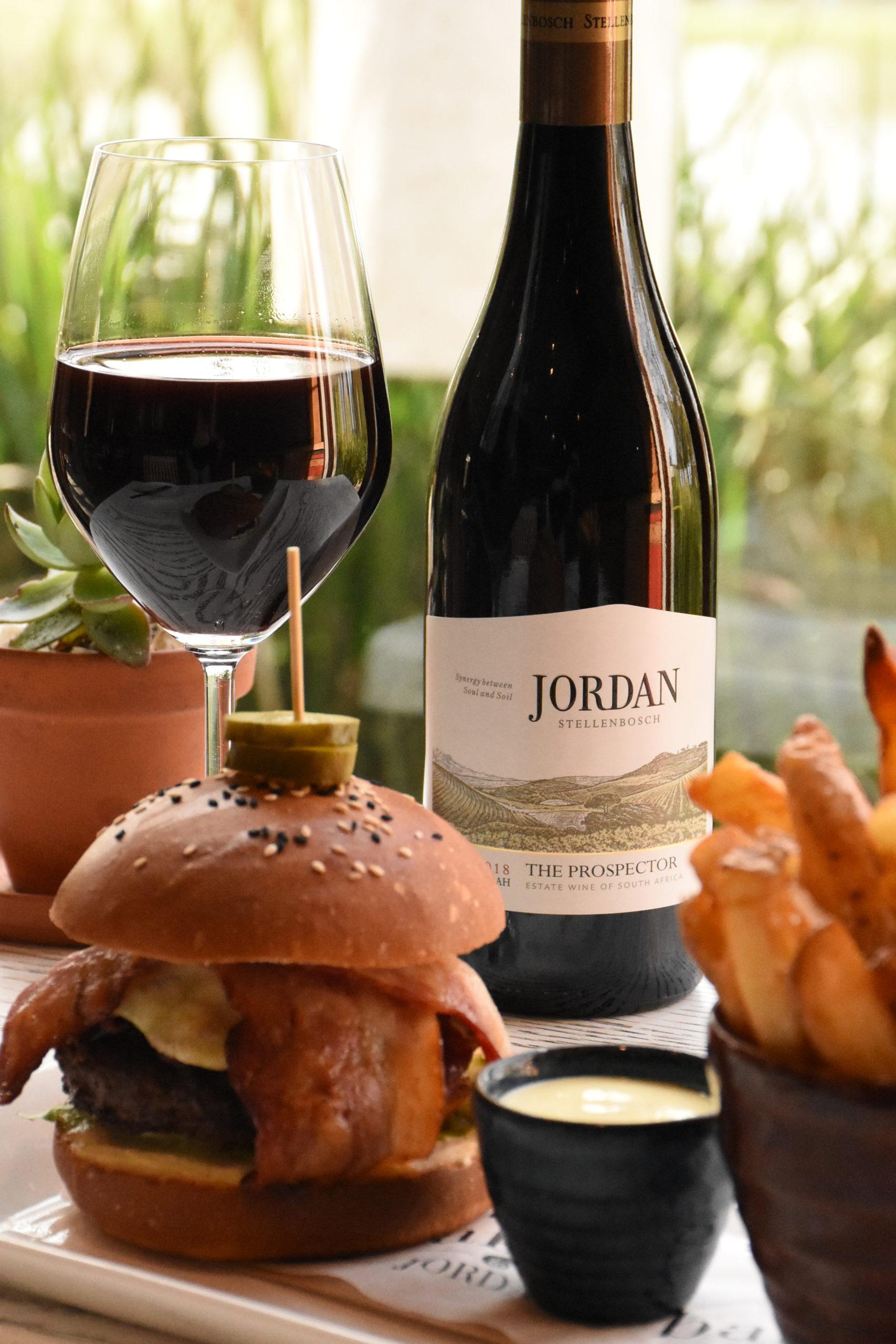 The Prospector Burger And Syrah Special At Jordan photo