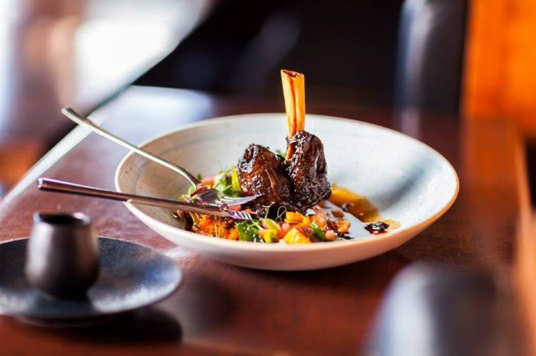 Lamb Shank With Barley Risotto And Butternut photo