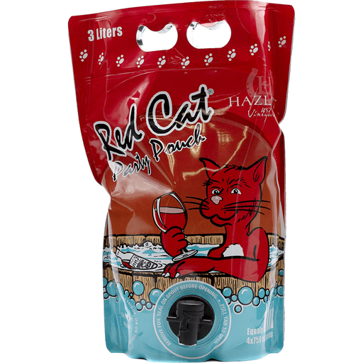Red Cat And White Cat Party Pouch For Wine-Loving Cat Crazies photo
