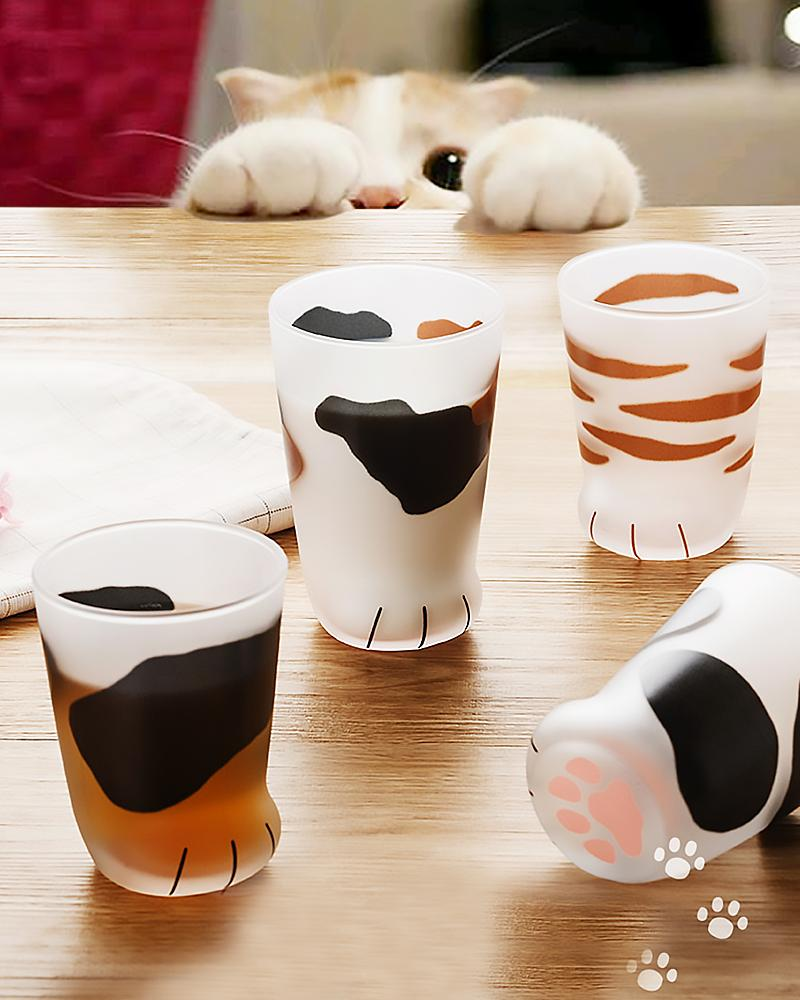 The Purrfect Cat Claw Glass Cup For Cat Crazy Drinkers photo